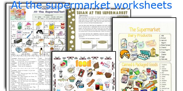 Math Worksheets supermarket math worksheets : English teaching worksheets: At the supermarket