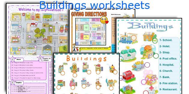 Buildings worksheets