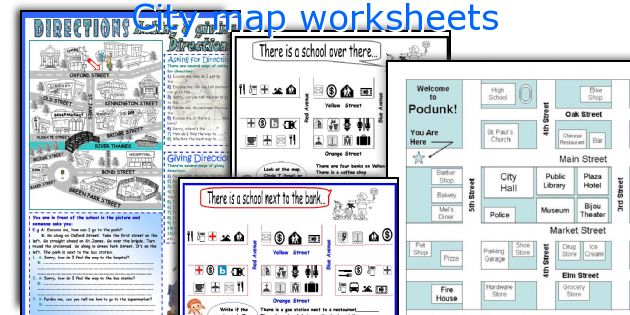 City map worksheets