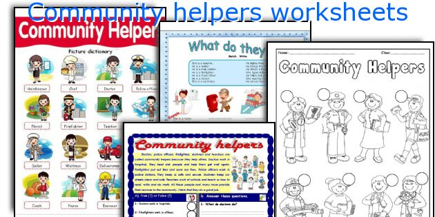 English teaching worksheets Community helpers – Community Helpers Worksheets for Kindergarten