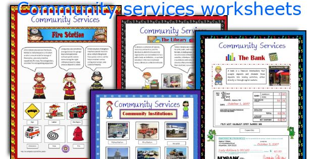 Community services worksheets