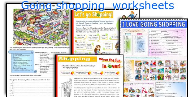 Going shopping  worksheets