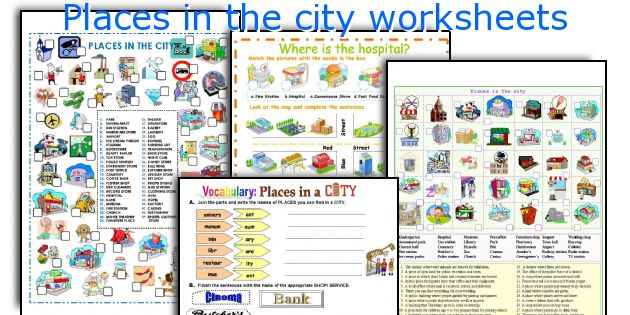 places in the city worksheets worksheets and activities for teaching
