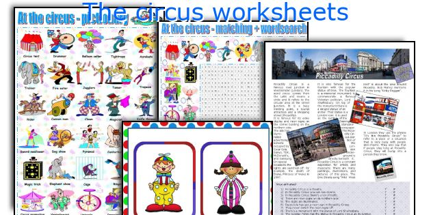 The circus worksheets