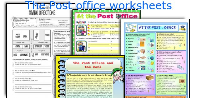 The Post office worksheets