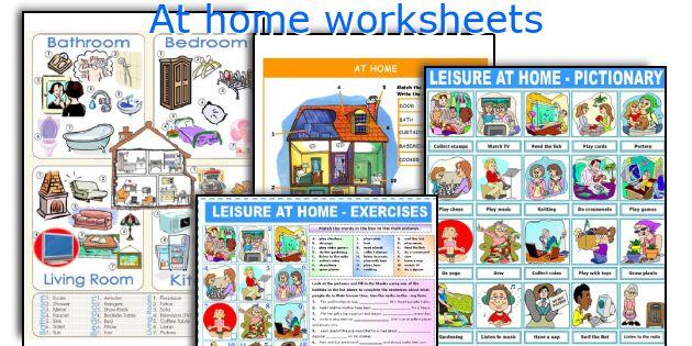 At home worksheets