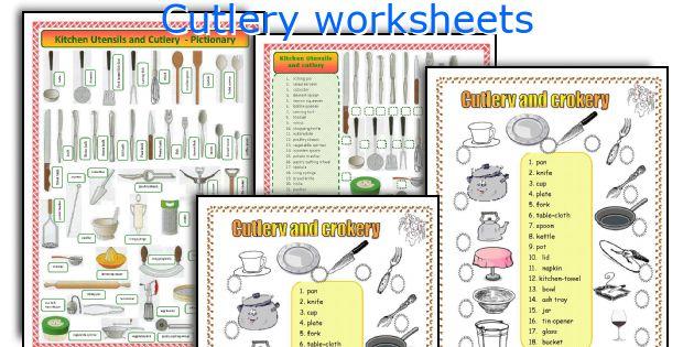 Cutlery worksheets