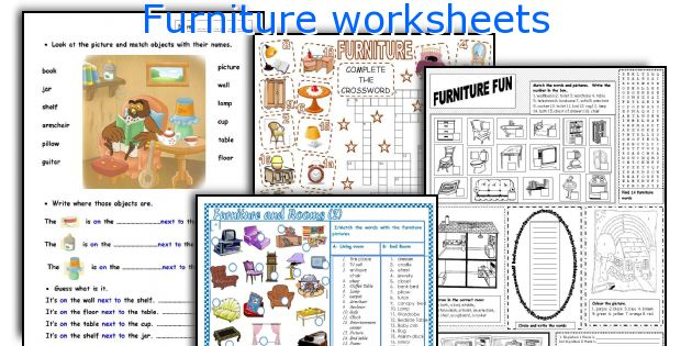 Furniture worksheets