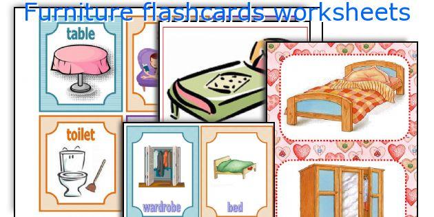 Furniture flashcards worksheets