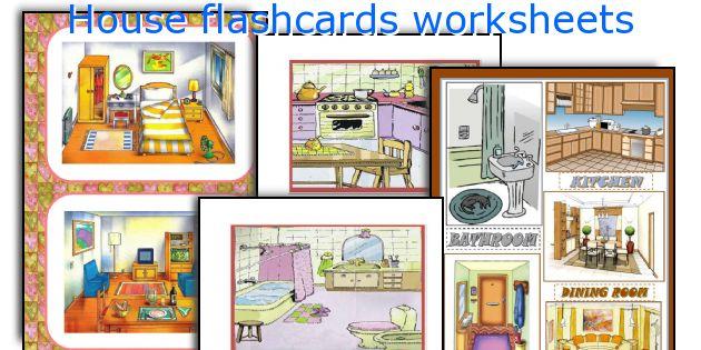 house flashcards worksheets. Black Bedroom Furniture Sets. Home Design Ideas