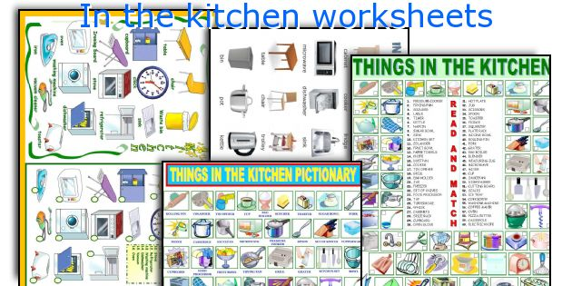 In the kitchen worksheets
