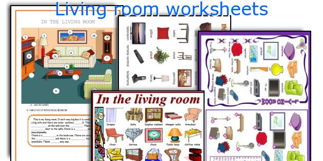 Living room worksheets