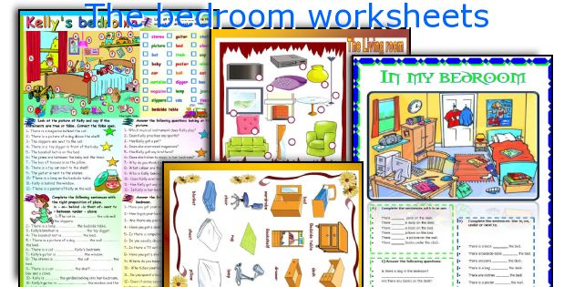 The bedroom worksheets