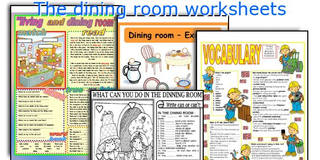 The dining room worksheets