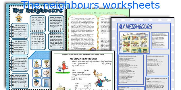 The neighbours worksheets