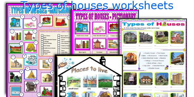 Types of houses worksheets