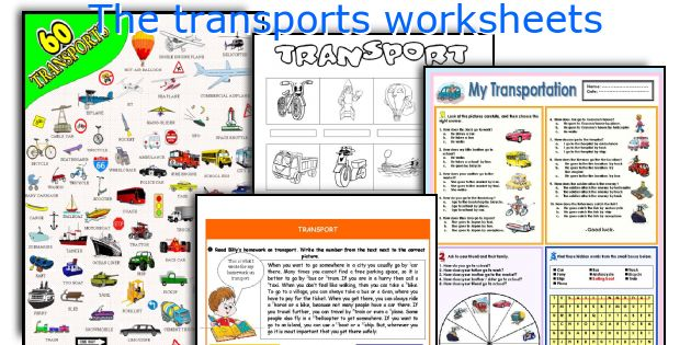 The transports worksheets