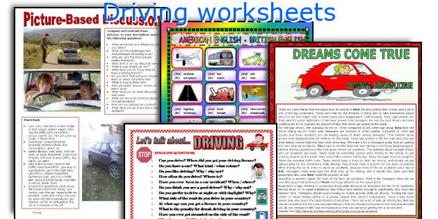 Driving worksheets