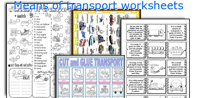 means of transport worksheets. Black Bedroom Furniture Sets. Home Design Ideas