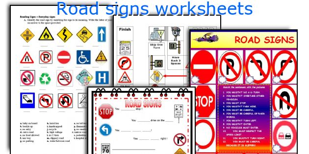 road signs worksheets worksheets and activities for teaching road ...