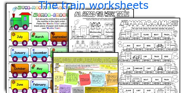 The train worksheets