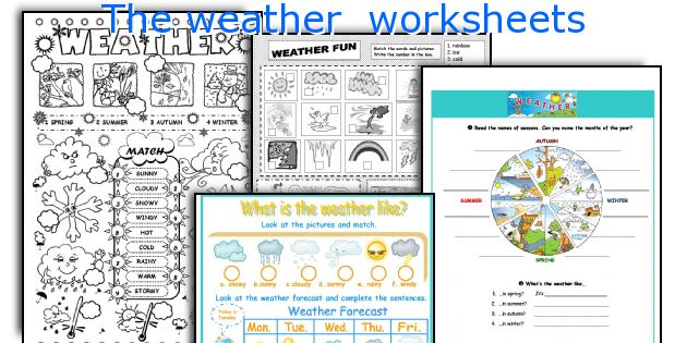 English Teaching Worksheets The Weather - Weather forecast printable