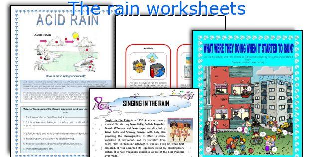 The rain worksheets
