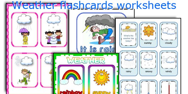 weather flashcards worksheets worksheets and activities for teaching ...