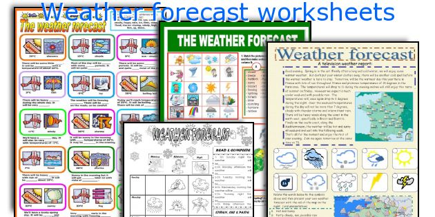 Weather forecast worksheets
