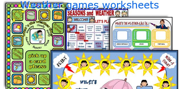 Weather games worksheets
