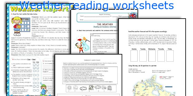 Weather Reading Worksheets