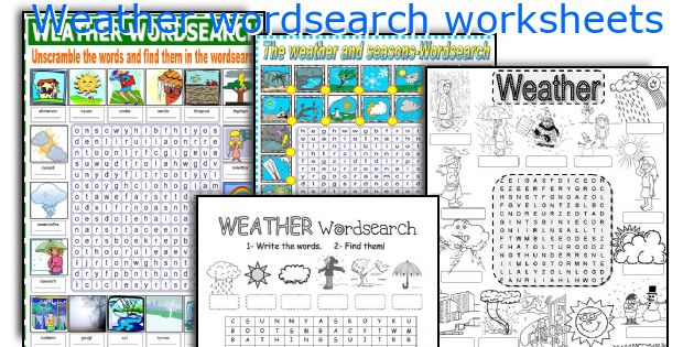 Weather wordsearch worksheets