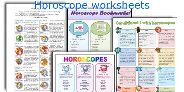 Horoscope worksheets