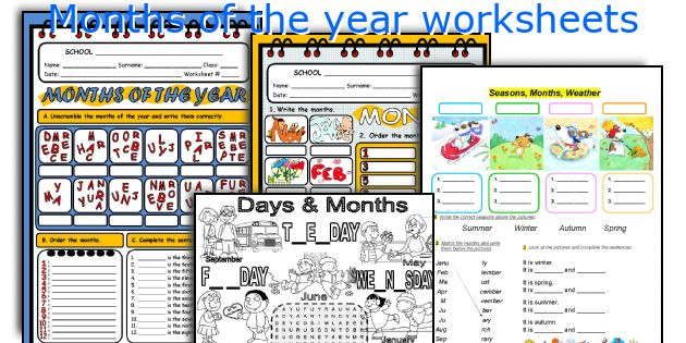 Number Names Worksheets worksheet for months of the year : English teaching worksheets: Months of the year