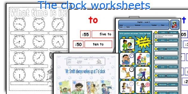 The clock worksheets
