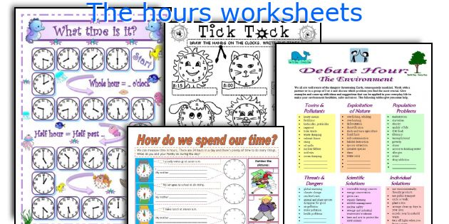 The hours worksheets