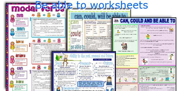 Be able to worksheets