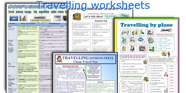 Travelling worksheets
