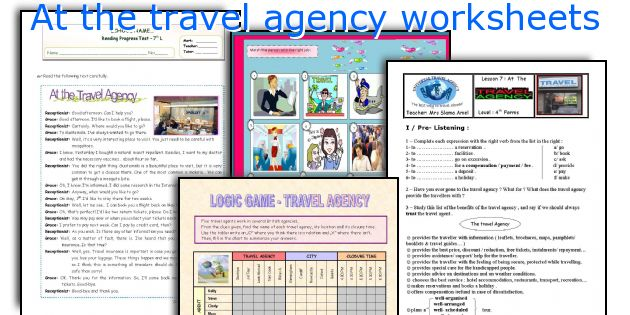 At the travel agency worksheets