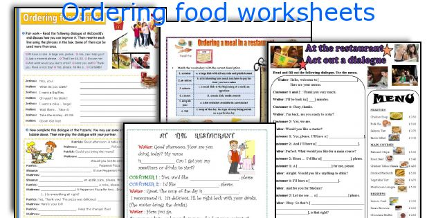 food ordering ordering food vocabulary esl