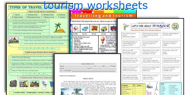 tourism worksheets