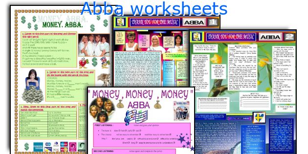 Abba worksheets