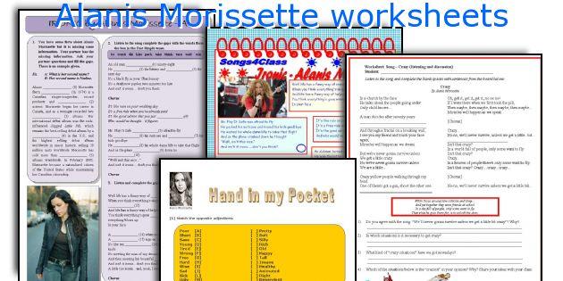 Alanis Morissette worksheets
