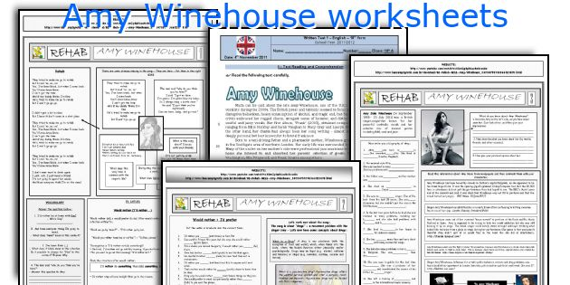 Amy Winehouse worksheets