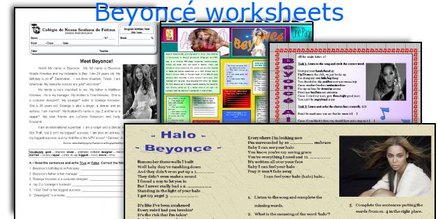 Beyoncé worksheets