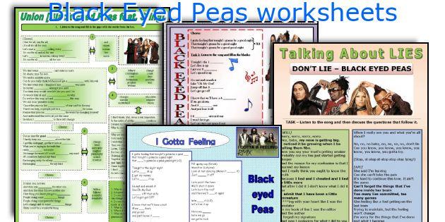 Black Eyed Peas worksheets