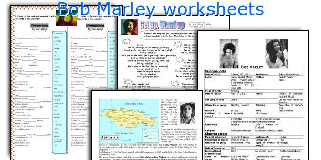 Bob Marley worksheets