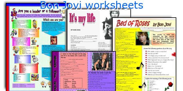 Bon Jovi worksheets