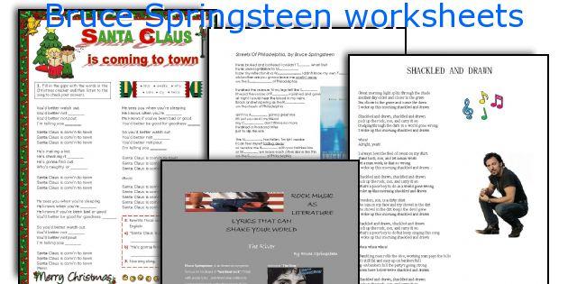 Bruce Springsteen worksheets