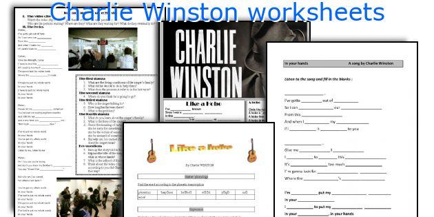 Charlie Winston worksheets